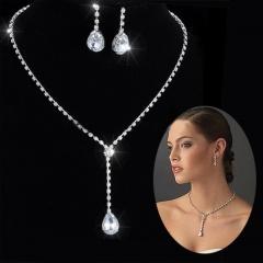 Wholesale Fashion Rhinestone Necklace Earring Set #1