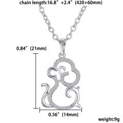 Fashion Women Necklace Animal Monkey Cute Crystal Pendant Choker Chain Jewellery Monkey Body