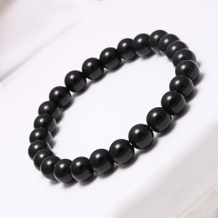 Rinhoo Black Lava Natural Stone Beads Bracelets for Women Vintage Design Volcanic Rock Tiger Eye Bead Strand Bracelet Men Jewelry Gifts Frosted stone