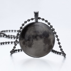 Luminous Time Gem Pendant Necklace for Women circle