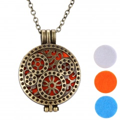 Fragrance Diffuser Essential Oil Aromatherapy Locket Pendant Necklace Jewellery Style 11