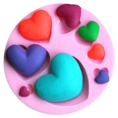 Silicone love heart molds Chocolate Fondant Cake Jelly Tray Pan Mold Kitchen Baking Sugarcraft Cake Tool Heart