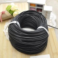 5m Black Diy Handmade Beaded Material Cowhide Rope Accessories Black
