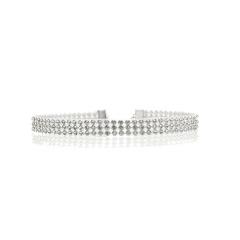 Full Diamond Plastic Necklace Jewelry Wholesale White
