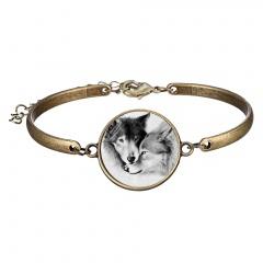Rinhoo 1PC Round Shape Ghost Pattern Lettering Pendant Alloy Chain Bangle & Bracelet Glow in the Dark Fashion Jewelry Gift Bracelet 5