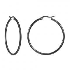 Fashion Big Earring Titanium Steel Round Ear Buckle Stainless Steel Earring Big