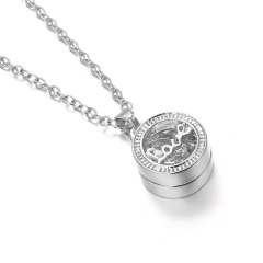 Crystal Hollow Love Necklace Silver Love