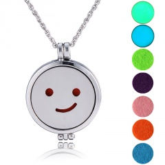 Aromatherapy Locket Oil Diffuser Necklace Openable Photo Box Aromatherapy Necklace A