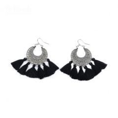 Fashion simple bohemian ladies temperament earrings black