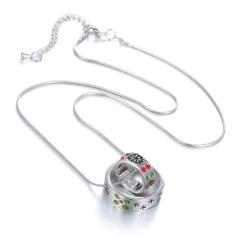 Fashion Snowflake Pendant Necklace Christmas Style Gift Necklace Wholesale Double Circle