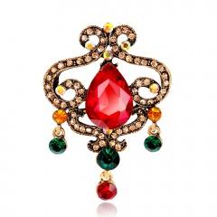 Fashion Rhinestone Alloy Brooch Jewelry Wholesale Crown