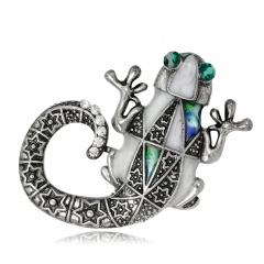 RINHOO Baby Classic Enamel Swallow Brooch Pins Scarf Pins Gift Banquet Weddings Accessories lizard