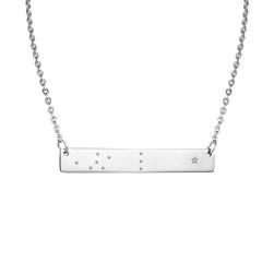 Fashion Stainless Steel Constellation Scorpio Pendant Necklace Family Jewellery Libra