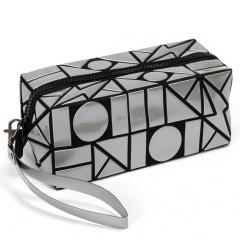 Lightning Diamond Makeup Bag Small Square Bag Folding Hand Bag Silver