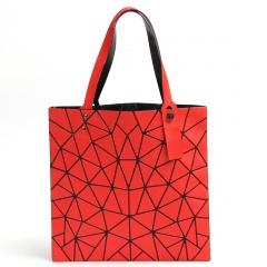 Matte Geometric Diamond Shoulder Bag Red