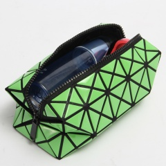 Geometric Folding Cosmetic Baling Hand Bag 19.5*8.5*8.5cm Green