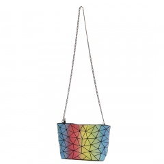 Geometric Diamond Rainbow Bag Chain Bag Shoulder Bag Crossbody Bag Night Light Bag 28*18*7cm Colours