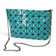 Geometric Ringer Bag Chain Bag Single Shoulder Bag Diagonal Span Bag 28.5*17.5*7cm Blue-green