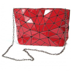 Geometric Ringer Bag Chain Bag Single Shoulder Bag Diagonal Span Bag 28.5*17.5*7cm Red