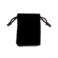 1pc Black Flannel Bag 5*7cm Jewelry Bag 5*7CM