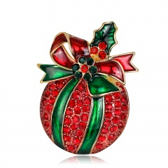 Fashion Crystal Christmas Brooch Pin Jewelry Christmas
