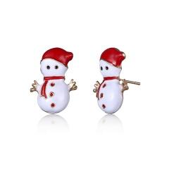 Fashion Crystal Women Lady Xmas Christmas Tree Ear Stud Earrings Jewelry Holiday Snowman