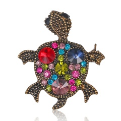 Rinhoo Beautiful pink Butterfly Small Insect Brooch Pins Animal Brooches for Women Decoration Jewelry Accessories For Women Girl tortoise1