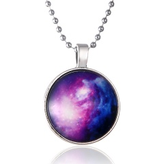 Fashion  Glow in the Dark Round Pendant Necklace 1