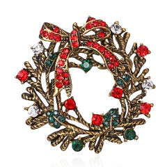 Fashion Christmas Various Styles brooch Santa Claus shoes carriage Rhinestone Brooch Jewelry for Christmas color stone brooches Christmas3