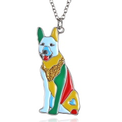 fashion colorful animal pendant chain necklace jewelry dog