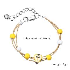 Charm Lemon cartoon clay bracelet 1