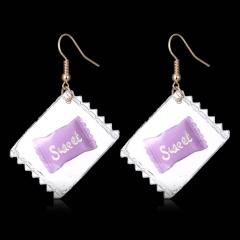 Fashion Transparent candy fun earrings 1