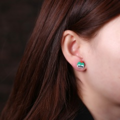 8 Pairs/Set Pastry Cartoon Handmade Soft Clay Hypoallergenic Combination Earrings For Women Pastry