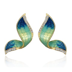 Women Crystal Rhinestone Pearl Butterfly Pendant Necklace Charm Jewelry Gift Earrings-Blue