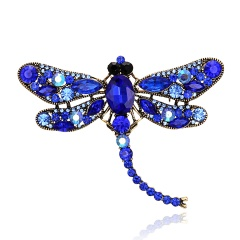 Vintage Crystal Dragonfly Necklace For Women Collar Pins Dragonfly Pendant Jewelry accessories enamel epacket drop shipping Blue Dragonfly