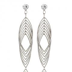 Fashion Geometric Crystal Earrings Women Jewelry Crystal