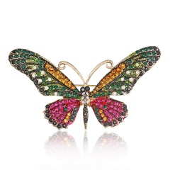 Colorful Cute Butterfly Brooch Mix Color Crystal Rhinestone Brooches for Women Lady Fashion Jewelry Boutonniere butterfly3