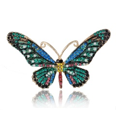 Colorful Cute Butterfly Brooch Mix Color Crystal Rhinestone Brooches for Women Lady Fashion Jewelry Boutonniere butterfly5
