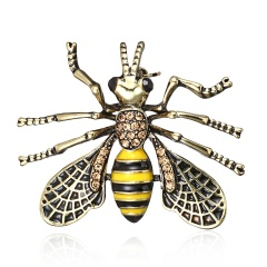 High-grade Vintage Fashion Pins Cute Bee Animals Enamel Insect Brooches For Women Party Gift New bee1