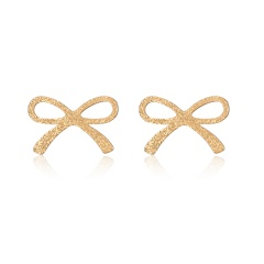 Stainless Steel Bow Stud Earrings Women Jewelry Bow