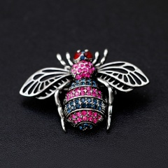 Animal Crystal Insect Brooch Pins For Women Girl Bee Brooches Jewelry Fashion Wedding Party Bijoux Gift animal1
