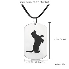 Fashion Stainless Steel Animal Dog Cat Butterfly Heart Dog Tag Pendant Necklace Dog 2