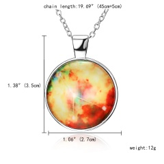 Taurus Time Gem Night Light Necklace 12 Constellation Night Light Necklace Glowing Necklace Cancer