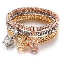 3 Pieces/Set Crown Gold Bangle Wholesale for Women Crown
