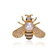 Fashion Bee Rhinestone Pearl Small Pins Brooches A