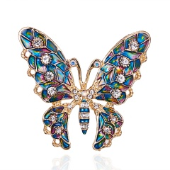 Rinhoo New Arrival Beautiful Rhinestone Fashion Enamel and Crystal Butterfly Brooches for Women Charm Colorful Dress Jewlery butterfly4