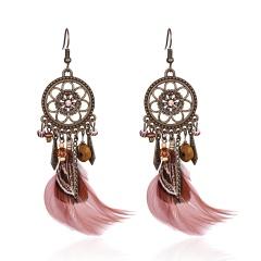 Boho Retro Tassel Hook Earrings Women Jewelry Retro