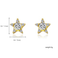 Fashion Rhinestone Big Star Stud Earrings Star 1
