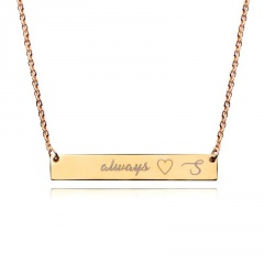 Fashion Engraved Letter Pendant Necklace Jewelry -G