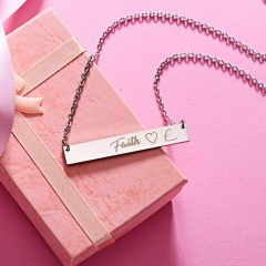 Lettering Necklace Faith Horizontal Letter Necklace Clavicle Chain G